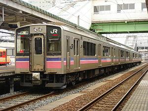 Tazawako Line - 701-5000 series EMU at Morioka Station