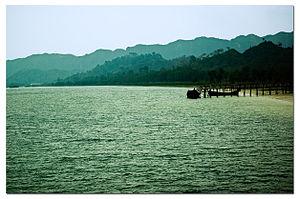 Naf River - Naf River at Teknaf Upazila, Bangladesh.