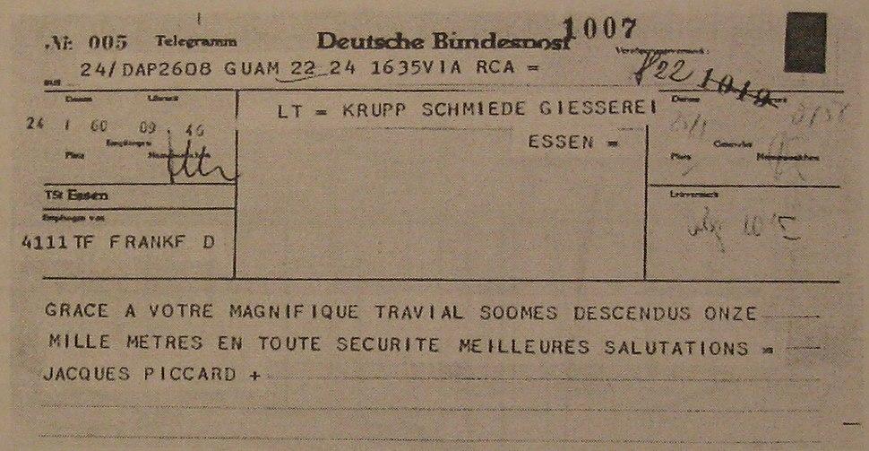 Telegram Piccard Krupp
