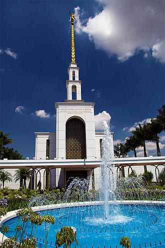 Black people and Mormon priesthood - LDS temple in São Paulo, Brazil