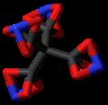 Tetranitratoxycarbon 3D stick.png