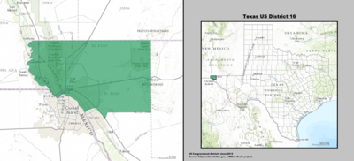 Texas's 16th congressional district - since January 3, 2013.