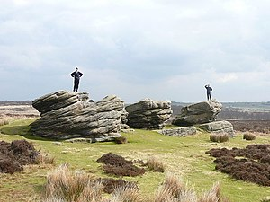 "Birchen Edge - The ""Three Ships"" outcrops on Birchen Edge"