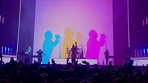 The 1975 performing in 2020
