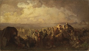 The Battle of Bråvalla. Study (August Malmström) - Nationalmuseum - 23901.tif