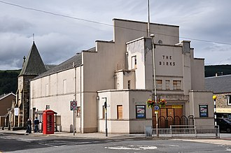 Aberfeldy, Perth and Kinross - The derelict Birks Cinema, since renovated and reopened