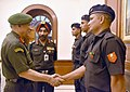The Chief of Army Staff, General Bipin Rawat felicitated Havildar Akash Chikte & Recruit Suraj Karkera of Indian Hockey Team, which won Asia Cup 2017 recently, in New Delhi on October 31, 2017.jpg