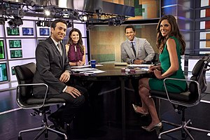 The Cycle (talk show) - Hosts in 2013: Ari Melber, Krystal Ball, Touré, and Abby Huntsman