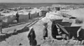 The Decauville Light Train at Lachish - The rails were constructed as close as possible to the excavation areas (Expedition Photo 1381, Wellcome Trust, 1933–1938).png
