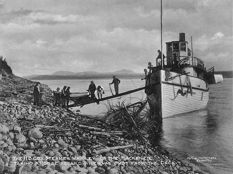 The HBC steamship Wrigley on the Mackenzie River in 1901 -a