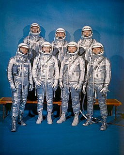 Mercury Seven group of seven Mercury astronauts