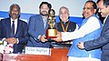 The Minister of State for Urban Development, Housing and Urban Poverty Alleviation, Shri Babul Supriyo presented the awards for excellence in Urban Transport and Urban Mobility.jpg