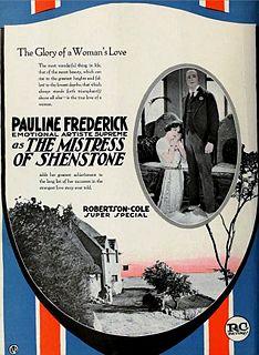 <i>The Mistress of Shenstone</i> 1921 film by Henry King