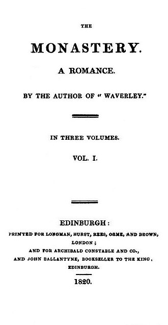 The Monastery - First edition title page