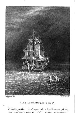 The Phantom Ship - Frontispiece to the 1847 edition