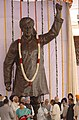 The President, Smt. Pratibha Patil honoring the renowned Sculptor, Shri Ram V. Sutar who prepared the statue of Shaheed Bhagat Singh, which is unveiled at Parliament House, in New Delhi on August 15, 2008.jpg