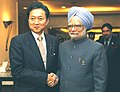 The Prime Minister, Dr. Manmohan Singh meeting the Japanese Prime Minister, Mr. Yukio Hatoyama, on the sidelines of 7th India-ASEAN Summit, in Thailand, on October 24, 2009.jpg