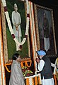 The Prime Minister, Dr. Manmohan Singh paying floral tributes to the former Prime Minister, Late Ch. Charan Singh on his 108th birth anniversary, at Parliament House, in New Delhi on December 23, 2010.jpg