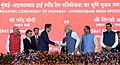 The Prime Minister, Shri Narendra Modi and the Prime Minister of Japan, Mr. Shinzo Abe at Ground Breaking ceremony of Mumbai-Ahmedabad High Speed Rail Project, at Ahmedabad, Gujarat (3).jpg