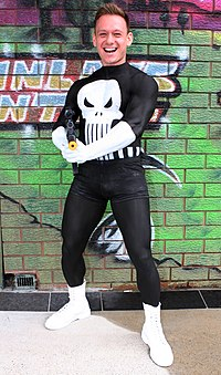 The Punisher Human Statue Bodyart Bodypainting (9104619043).jpg