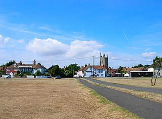 Lydd town in Kent, England
