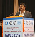 The Scientific Advisor to Defence Minister, Dr. G. Satheesh Reddy addressing the gathering at the XIX International Workshop on the Physics of Semiconductor Devices 2017, at IIT Delhi, in New Delhi on December 12, 2017.jpg