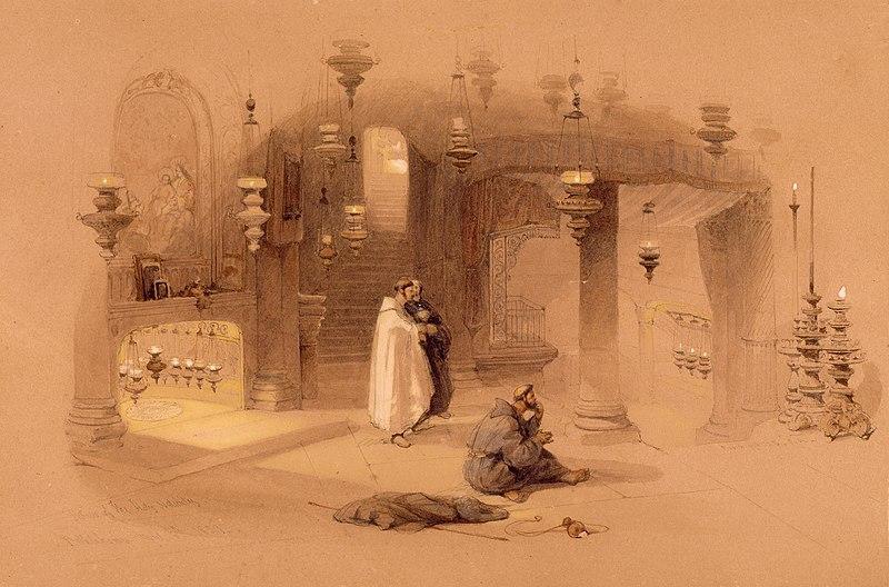 File:The Shrine of the Holy Nativity, Bethlehem) by David Roberts, RA.jpg