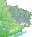 The Siverskyi Donets river basin in Ukraine zoomed.png