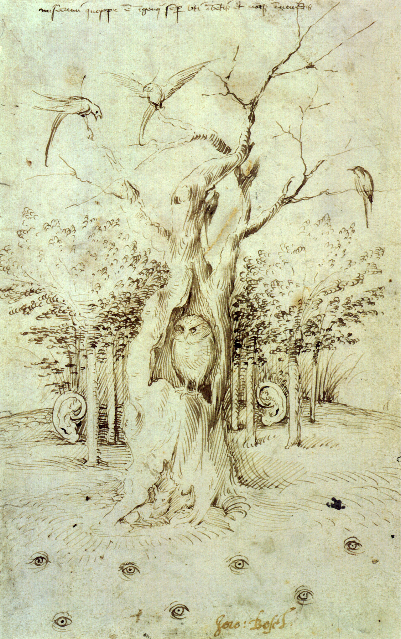 Hieronymus Bosch - The Trees Have Ears And The Field Has Eyes, 1500
