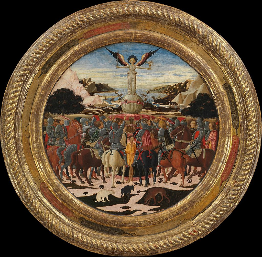 The Triumph of Fame; (reverse) Impresa of the Medici Family and Arms of the Medici and Tornabuoni Families MET DP164870