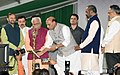 The Union Home Minister, Shri Rajnath Singh lighting the lamp at the launch of the Student Police Cadet (SPC) programme for nationwide implementation, in Gurugram, Haryana.JPG