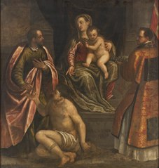 The Virgin and Child with St Martin and St Petronius