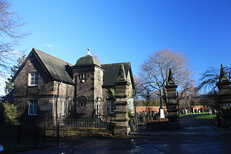 Leith Links - The entrance to Seafield Cemetery, Leith Links