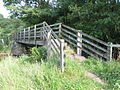 The footbridge over Rowley Burn at Crabtree Ford - geograph.org.uk - 937525.jpg
