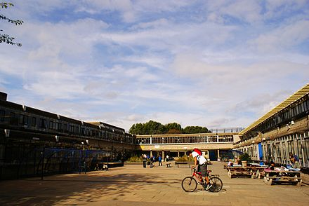 The former Thomas Tallis School concourse. The former Thomas Tallis School building.jpg