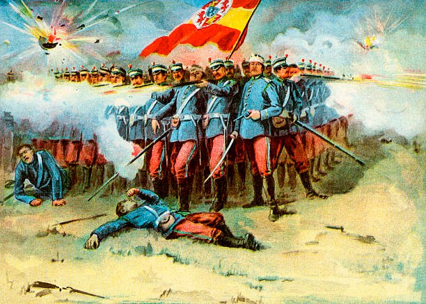 The last stand of the Spanish Garrison