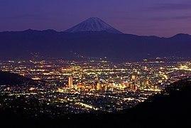 The night view of Kofu City