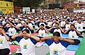 The participants in the mass performance of Common Yoga Protocol, on the occasion of the 4th International Day of Yoga -2018, at Red Fort, in Delhi on June 21, 2018 (3).JPG