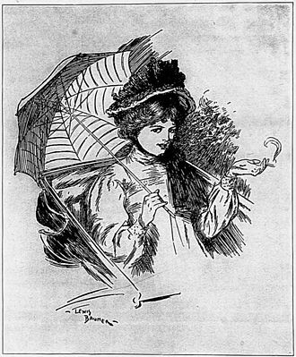 Lewis Baumer - The Sea Lady frontispiece