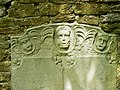 The upper part of a memorial stone, St Bartholomews Church, Corsham - geograph.org.uk - 1950442.jpg