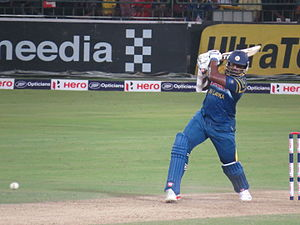Thisara Perera - Thisara Perera batting against England