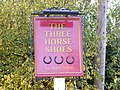 Three Horseshoes Public House Sign,Charsfield - geograph.org.uk - 1029550.jpg