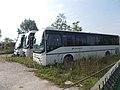 Three bus, Magyar street bus depot, 2018 Zsámbék.jpg