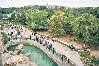 Tiergarten Schönbrunn - Aerial view of the zoo