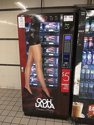 Pantyhose - Pantyhose vending machine at Town Hall railway station, Sydney, Australia