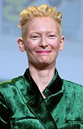 Swinton at the San Diego Comic-Con in 2016