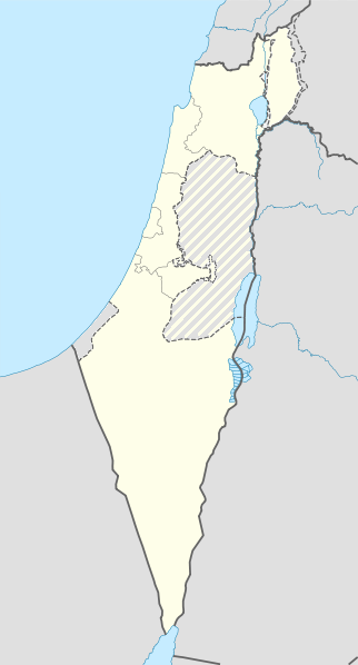 Time zone map of Israel