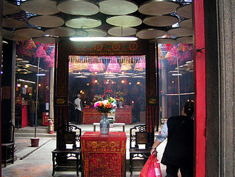 Tin Hau Temple Complex, Yau Ma Tei - Interior of the Tin Hau Temple.
