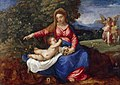 Titian (c.1488-Venice 1576) and Workshop - Madonna and Child in a Landscape with Tobias and the Angel - RCIN 402863 - Royal Collection.jpg