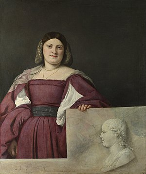 La Schiavona - Image: Titian Portrait of a Lady ('La Schiavona') Google Art Project